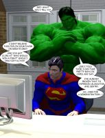 Hulk vs Superman Debate by OrionPax09