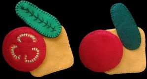 Felt Hamburger Garnishes  by wytrvn