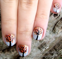 Autumn Trees by nightskynaildesign