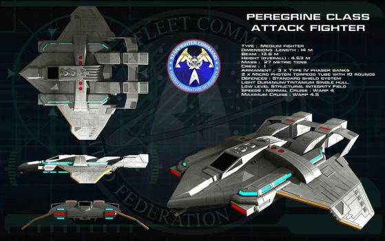 Peregrine class attack fighter ortho [update] by unusualsuspex