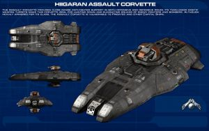 Hiigaran Assault Corvette ortho [new] by unusualsuspex