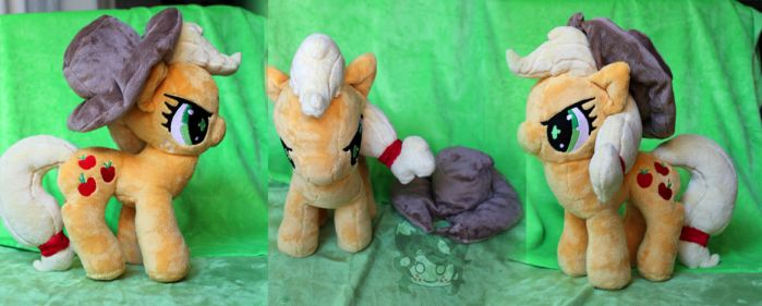 Commission: Determined Applejack (Old Pattern) by Scarlet-Songstress