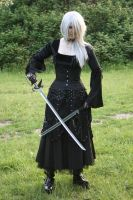 Gothic3 with sword 22 by Noirin-Stock