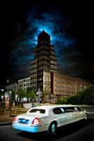 The moon, the house, and the stretch limo by wulfman65