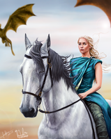 Mother of Dragons - Collaboration by laracremon