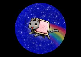 Nyan on the Telescope by Birvan