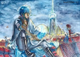 Gintama- on the roof by gazdowna