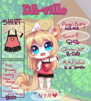 DA-ville: Angel Kitty by BrandiMuffin