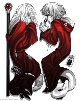 Raistlin and Kabuto: Rest for the Wicked by Yakushi--Kabuto