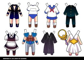 Clothes Paper Doll Set1 by zaionic