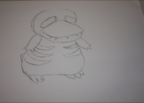 Pencil test-Zombie Psyduck by Cherry-Crape