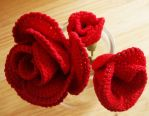 Crochet roses by Craftcove