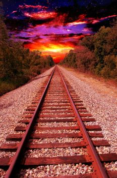 Railroad tracks to infinity (i just made that up) by jericaneely15