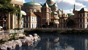 Naboo and water reflections by rodluc2001