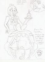Toy chica's snack sketch by Darz213