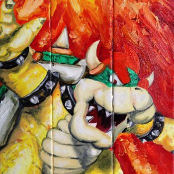 Bowser Oil Painting by ZanEXE