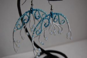 jellyfish earings by 3zolushka