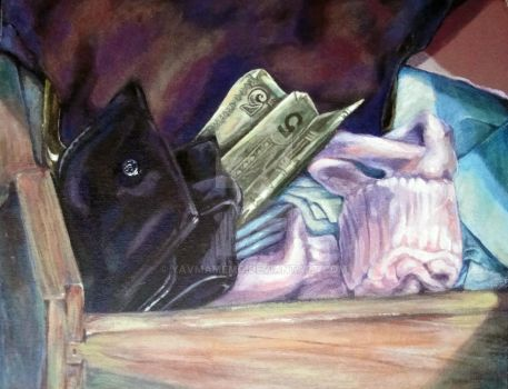 Still Life with 5$ Bill by YavMamemo