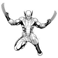 Inking practice - Savage Wolverine by Cho by Almayer