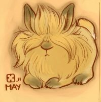 Lion Mane Rabbit by StressedJenny