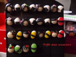 Japan Stud Earrings / Orecchini a perno by tivibi