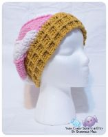 Ice Cream Cone Hat: Strawberries and Cream 1 by moofestgirl