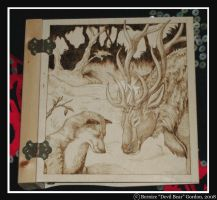 Binder Commission- Elk and Fox by Gishkishenh