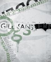 Gill Sans Typography Poster by Shreeb