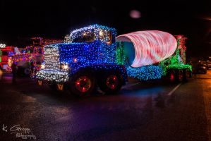 Christmas Truck Parade by ackbad