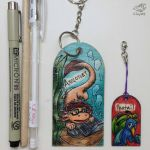 Axolotlet Birthday 2015 keychain by JemiDove