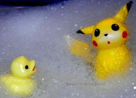 It's bath time, Pikachu! by Bimmi1111