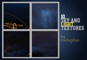 10 large sky + light textures by zakurographics