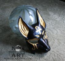 Egyptian Anubis Mask - hand made paper pulp mask by nondecaf