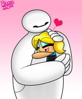 Baymax and Bubbles by Sweatshirtmaster