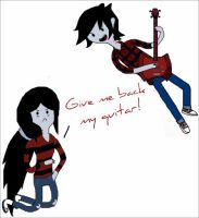 Marceline and Marshall Lee by ariannejae