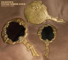 Vintage/Antique Fantasy Hand Mirror - Stock by NickiStock