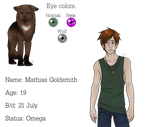 Mathias Goldsmith (Teen wolf AU oc, open for RP) by Sexy-Hunter