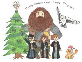 Harry Potter - Merry Christmas by snoopy114