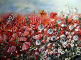 Poppy Meadow by Monica-Blatton