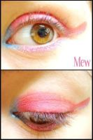 Pokemon Makeup: Mew by Steffmiesterx13