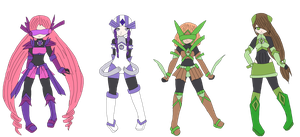 old megaman oc's redesigned by legendary444
