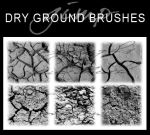6 Dry Ground Texture Brushes by dcmbrnite