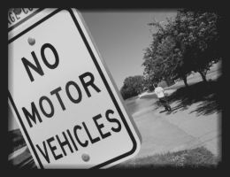 No Motor Vehicles by LeperConDios