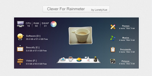 Clever For Rainmeter by lonelyxue