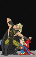 Supergirl vs Nuclearman2 - Com by mhunt