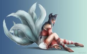 Ahri fan art League of Legends by Hamzilla15