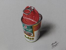 Empty can of beans DRAWING by Marcello Barenghi by marcellobarenghi