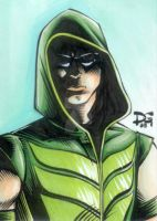 Green Arrow sketch card by mechangel2002