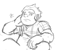 Ralph of Wreck-it Ralph by leadhooves