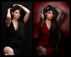 The Mistress Before/After by PaperDreamerArt